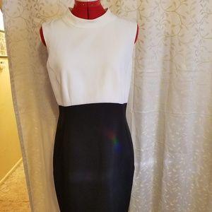 Halogen Dresses - Halogen black and white colorblock sheath dress
